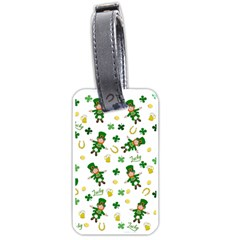 St Patricks Day Pattern Luggage Tags (one Side)  by Valentinaart