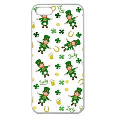 St Patricks Day Pattern Apple Seamless Iphone 5 Case (clear)
