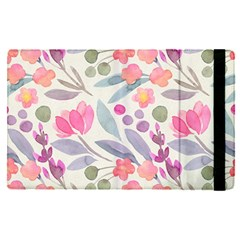 Purple And Pink Cute Floral Pattern Apple Ipad Pro 9 7   Flip Case by paulaoliveiradesign