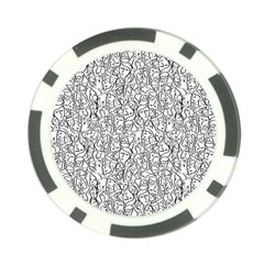 Elio s Shirt Faces In Black Outlines On White Poker Chip Card Guard (10 Pack) by PodArtist