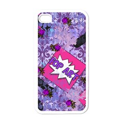 Purlpe Retro Pop Apple Iphone 4 Case (white) by snowwhitegirl
