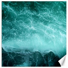 Green Ocean Splash Canvas 20  X 20   by snowwhitegirl