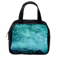 Green Ocean Splash Classic Handbags (one Side) by snowwhitegirl