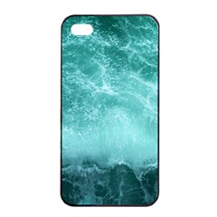 Green Ocean Splash Apple Iphone 4/4s Seamless Case (black) by snowwhitegirl