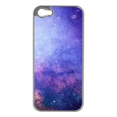 Galaxy Apple Iphone 5 Case (silver) by snowwhitegirl