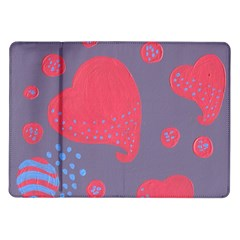 Lollipop Attacked By Hearts Samsung Galaxy Tab 10 1  P7500 Flip Case by snowwhitegirl