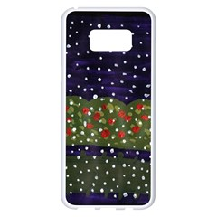 Snowy Roses Samsung Galaxy S8 Plus White Seamless Case