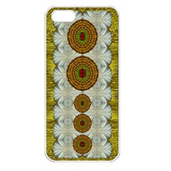 Spring In Mind And Flowers In Soul Be Happy Apple Iphone 5 Seamless Case (white) by pepitasart