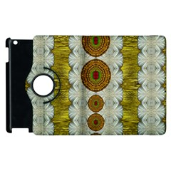 Spring In Mind And Flowers In Soul Be Happy Apple Ipad 3/4 Flip 360 Case by pepitasart