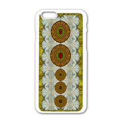 Spring In Mind And Flowers In Soul Be Happy Apple Iphone 6/6s White Enamel Case by pepitasart