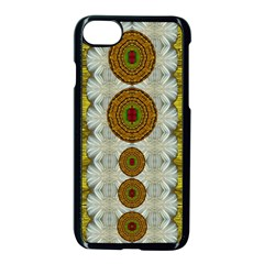 Spring In Mind And Flowers In Soul Be Happy Apple Iphone 7 Seamless Case (black) by pepitasart