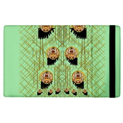 Lady Panda With Hat And Bat In The Sunshine Apple Ipad 2 Flip Case by pepitasart