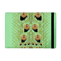Lady Panda With Hat And Bat In The Sunshine Apple Ipad Mini Flip Case by pepitasart