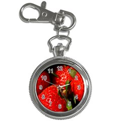 Red Strawberries Key Chain Watches