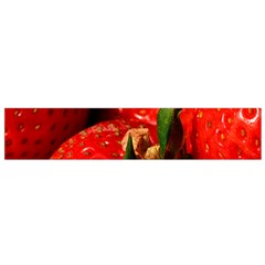 Red Strawberries Small Flano Scarf by snowwhitegirl