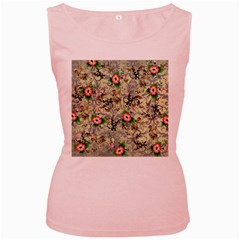 Angel Floral Women s Pink Tank Top