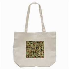 Angel Floral Tote Bag (cream) by snowwhitegirl