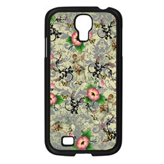 Angel Floral Samsung Galaxy S4 I9500/ I9505 Case (black) by snowwhitegirl
