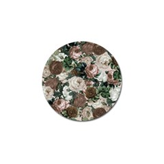 Rose Bushes Brown Golf Ball Marker (4 Pack) by snowwhitegirl