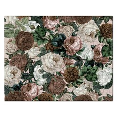 Rose Bushes Brown Rectangular Jigsaw Puzzl