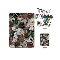 Rose Bushes Brown Playing Cards 54 (mini)  by snowwhitegirl