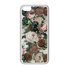 Rose Bushes Brown Apple Iphone 5c Seamless Case (white) by snowwhitegirl