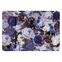 Rose Bushes Blue Samsung Galaxy Tab 8 9  P7300 Flip Case by snowwhitegirl