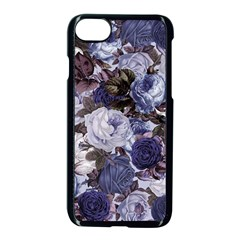 Rose Bushes Blue Apple Iphone 8 Seamless Case (black) by snowwhitegirl