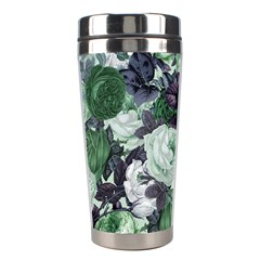 Rose Bushes Green Stainless Steel Travel Tumblers by snowwhitegirl