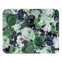 Rose Bushes Green Double Sided Flano Blanket (large)  by snowwhitegirl