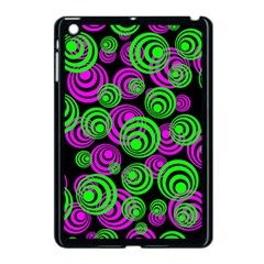 Neon Green And Pink Circles Apple Ipad Mini Case (black) by PodArtist