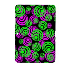 Neon Green And Pink Circles Samsung Galaxy Tab 2 (10 1 ) P5100 Hardshell Case  by PodArtist