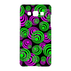 Neon Green And Pink Circles Samsung Galaxy A5 Hardshell Case  by PodArtist