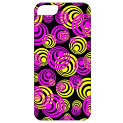 Neon Yellow And Hot Pink Circles Apple Iphone 5 Classic Hardshell Case by PodArtist