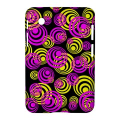 Neon Yellow And Hot Pink Circles Samsung Galaxy Tab 2 (7 ) P3100 Hardshell Case  by PodArtist