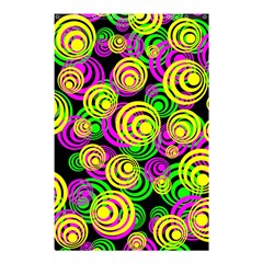 Bright Yellow Pink And Green Neon Circles Shower Curtain 48  X 72  (small)  by PodArtist