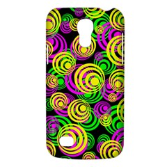 Bright Yellow Pink And Green Neon Circles Galaxy S4 Mini by PodArtist