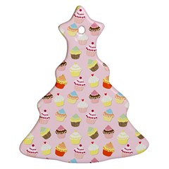 Baby Pink Valentines Cup Cakes Christmas Tree Ornament (two Sides) by PodArtist