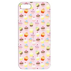Baby Pink Valentines Cup Cakes Apple Iphone 5 Hardshell Case With Stand by PodArtist