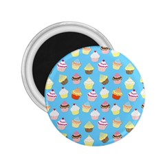 Pale Pastel Blue Cup Cakes 2 25  Magnets by PodArtist