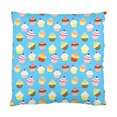Pale Pastel Blue Cup Cakes Standard Cushion Case (two Sides) by PodArtist