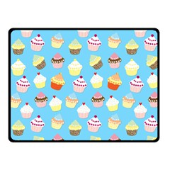 Pale Pastel Blue Cup Cakes Fleece Blanket (small) by PodArtist
