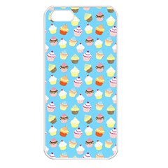 Pale Pastel Blue Cup Cakes Apple Iphone 5 Seamless Case (white) by PodArtist