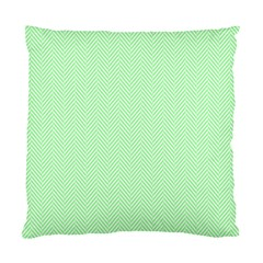 Classic Mint Green & White Herringbone Pattern Standard Cushion Case (one Side) by PodArtist