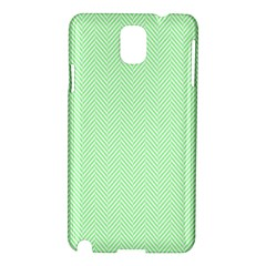 Classic Mint Green & White Herringbone Pattern Samsung Galaxy Note 3 N9005 Hardshell Case by PodArtist