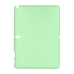 Classic Mint Green & White Herringbone Pattern Galaxy Note 1 by PodArtist