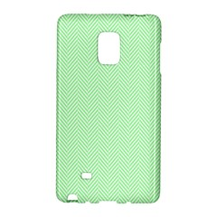 Classic Mint Green & White Herringbone Pattern Galaxy Note Edge by PodArtist