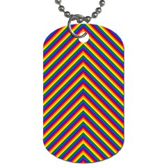 Gay Pride Flag Rainbow Chevron Stripe Dog Tag (one Side) by PodArtist