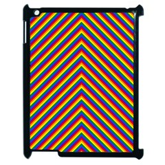Gay Pride Flag Rainbow Chevron Stripe Apple Ipad 2 Case (black) by PodArtist