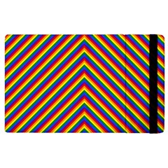 Gay Pride Flag Rainbow Chevron Stripe Apple Ipad 2 Flip Case by PodArtist